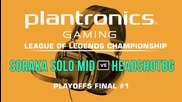 HEADSHOTBG vs Soraka Solo Mid - Plantronics LoL Championship Playoffs