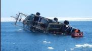 Руски кораб потъва в Арктически океан