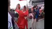 Кими Райконен Блъска Фотограф - Състезание за Голямата Надграда На ВЕЛИКОБРИТАНИЯ - Silverstone - *ФОРМУЛА 1 * 06.07.2008г.