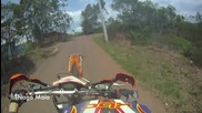 Каране на задна гума с Ktm 250 (chest Cam Gopro)