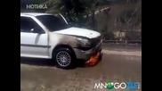 Как не се гаси пожар в колата
