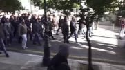 Greece: Tear gas flies as Labour Law protest takes a violent turn in Athens