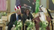 Saudi Arabia: King Salman welcomes Trump at the airport in Riyadh