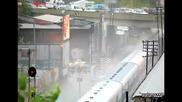 Влак предизвикват грандиозни вълна в Буенос Айрес