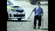 Луд шофьор с Subaru Impreza