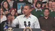 Барак Обама изпълнява песен на L M F A O - i'm sexy and i know it