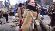 Красиви кукерки гонят злите духове в Брезник