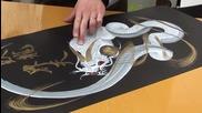Японска техника за рисуване на дракон
