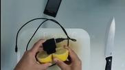 Как да заредите телефона си с лимон