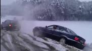 Какво може едно Audi 80 Quattro през зимата!