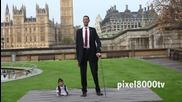 Най-ниският и най-високия човек на света един до друг