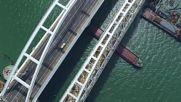 Drone footage captures opening day of Kerch Strait Bridge
