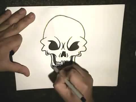 Как се рисува череп