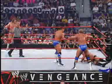 Wwe Vengeance 2004 Eugene and Ric Flair vs La Resistance