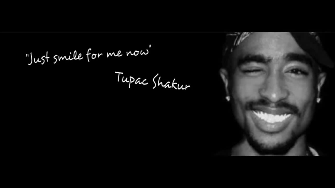 The Gallery For Gt Tupac Black And White Smiling