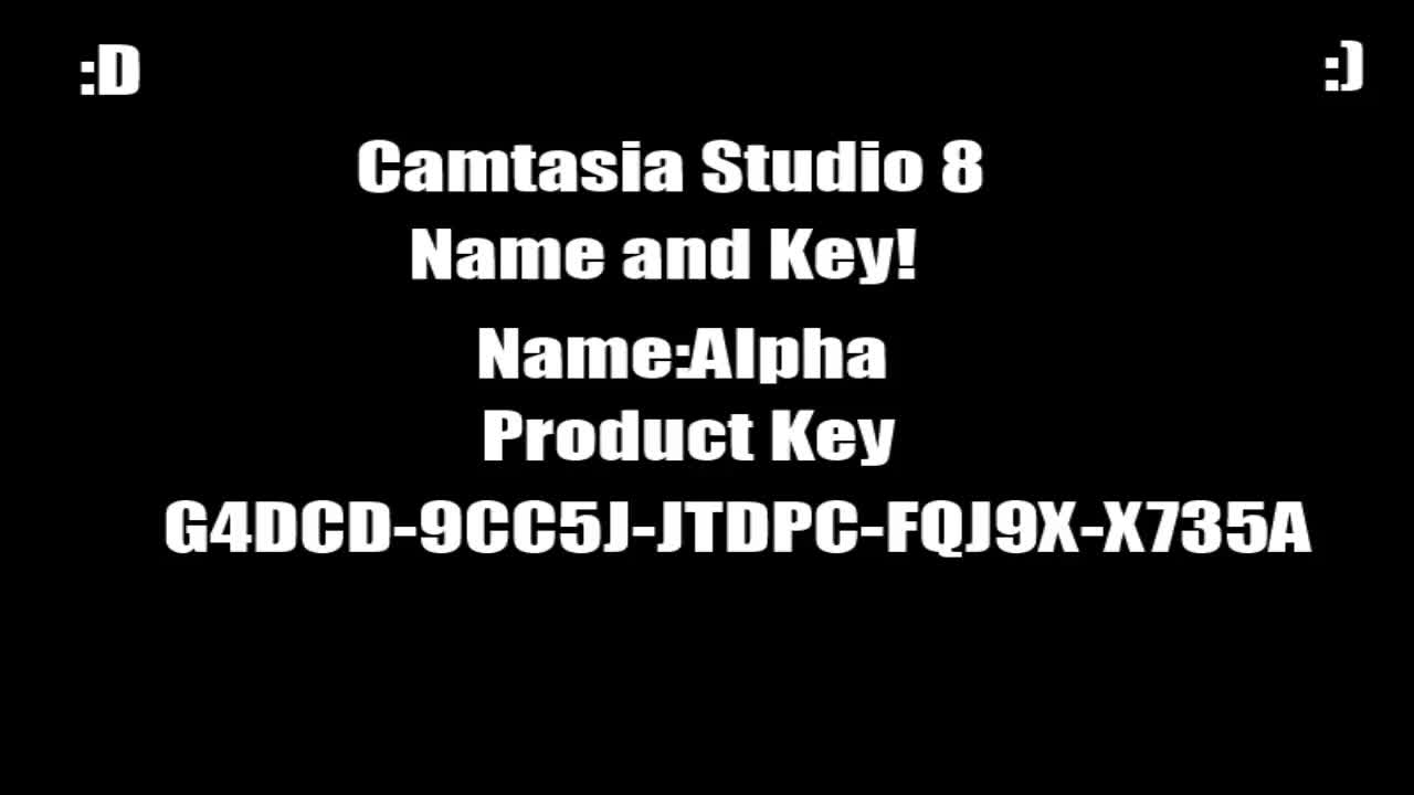 camtasia studio 8 key and name