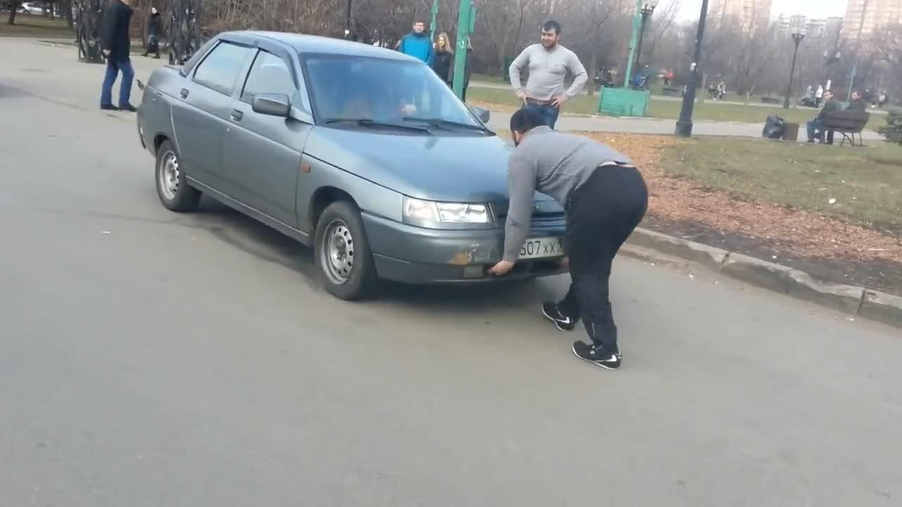 Кола срещу руснак :) Кой е по-силен?