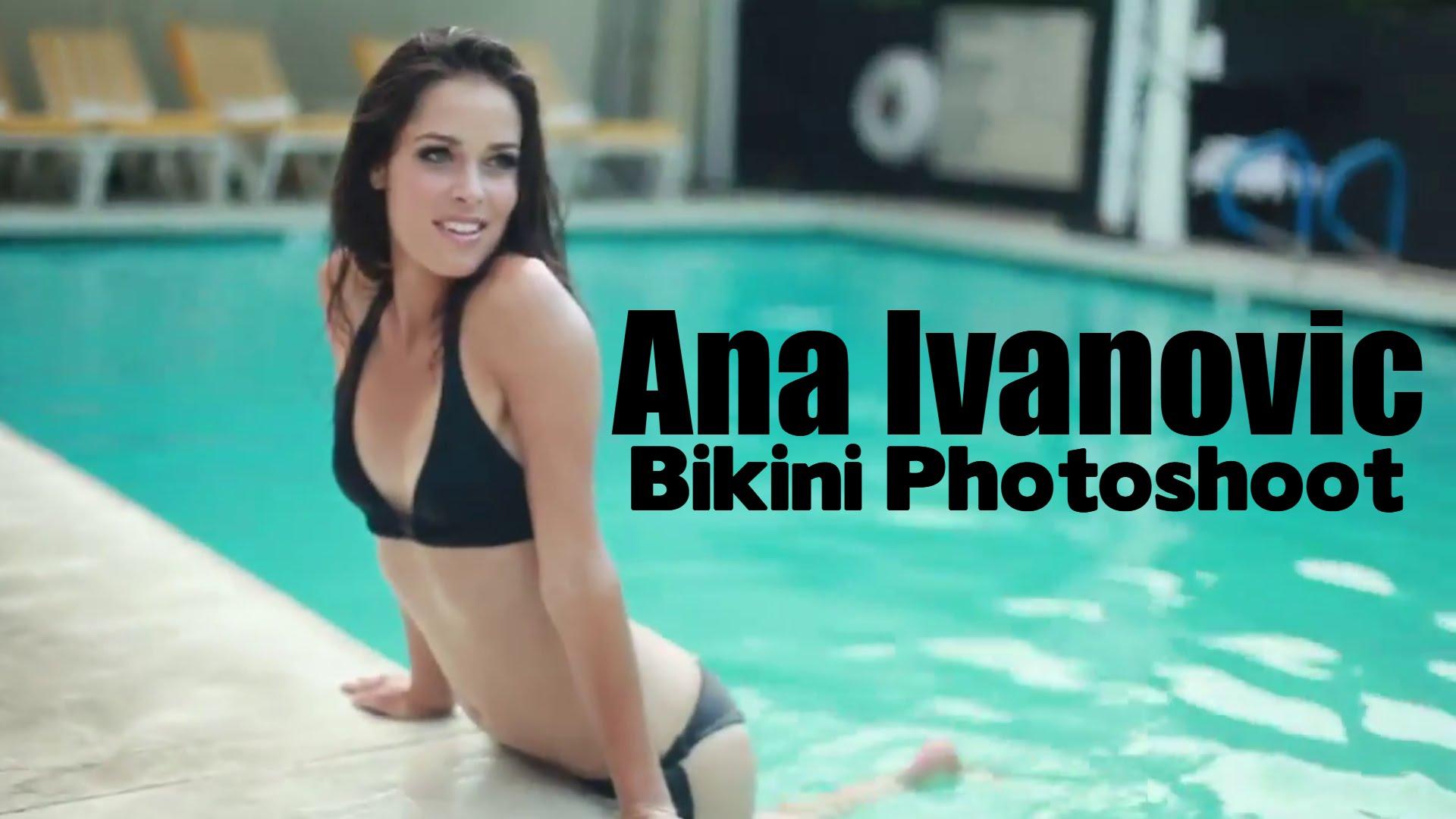 Ana ivanovic in sports bra gets wet 4