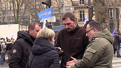 France: Police unions rally in Paris to protest against pension reform