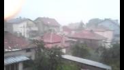 Зверска градушка в София
