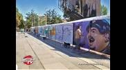 Как бе нарисуван графити шаржът на Дичо пред НДК