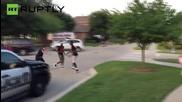 Police Officer Manhandles Young Girl, Pulls Gun Teenagers