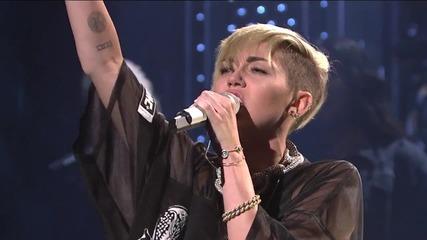 ~ Прекрасно изпълнение на ~ Miley Cyrus - Wrecking Ball / Live - 2013