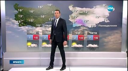 Прогноза за времето (22.03.2015 - сутрешна)