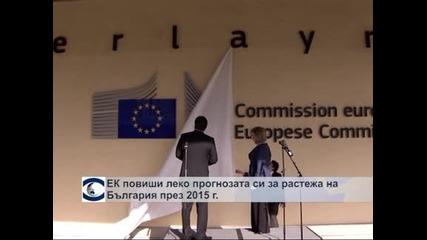 ЕК повиши прогнозата за икономически ръст в България на 0,8 %