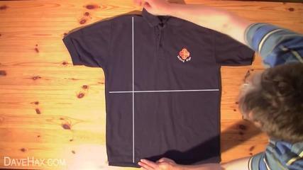 Как да сгънеш тениска за 2 секунди