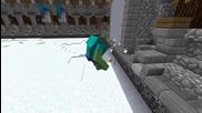 Minecraft - Mutant Snow Golems vs Mutanat Zpmbies