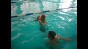 Сбъскване Между плувци На Басейн Мадара