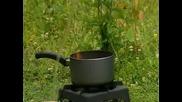Гасене на горящо олио с вода