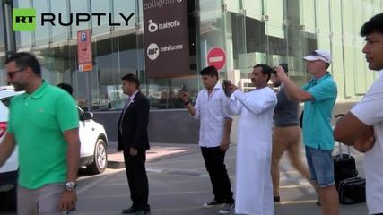 The Dark Knight's Batmobile Rolls the Streets of Dubai