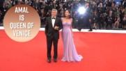 Амал Клуни - ослепителна във Венеция, три месеца след раждането
