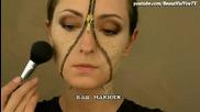 Разкопчан цип грим на лицето
