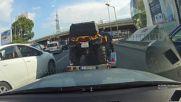 Наглец кара след линейка