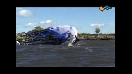 Кайт - Сърф - Осушаване На Крилото С Помощ