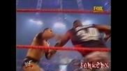 Крис Джерико и Скалата срещу Отбор 3d [ За Отборните Титли ] { Raw 22.10.2001 }