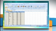 Microsoft® Excel 2007: How to create a Pivot Table or Chart report on Windows® Vista?