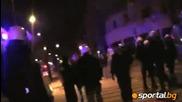 Арестувани фенове след протестите на Легия и Висла