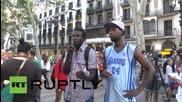 Испания: Съмнителната смърт на емигрант предизвика протести из Барселона