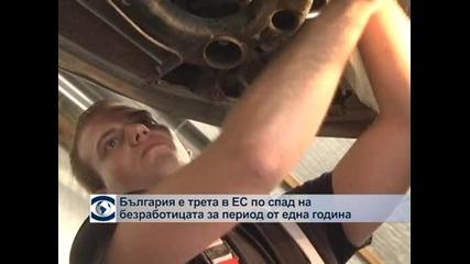 България е трета в ЕС по спад на безработицата за период от една година