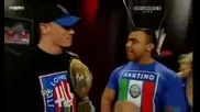 Wwe John Cena And Santino Merellas Really Funny Segment