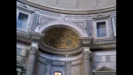 Пантеона в Рим отвътре