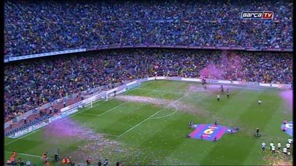 Homenatge del Camp Nou a Xavi Hernàndez