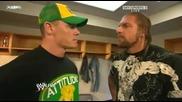 Wwe Raw 72009 - Triple H & John Cena Backstage