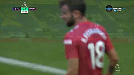 Брайтън - Манчестър Юнайтед 1:1 /първо полувреме/