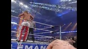 Wwe - Shawn Michaels jumps on John Cena on the coment table [wrestlemania 23]