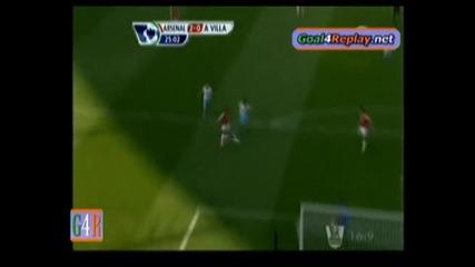 Уолкот прекрасен гол с бг коментар - Арсенал 3:0 Астън Вила